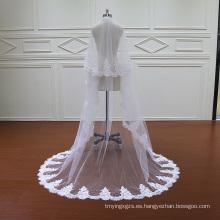 Dos velos de encaje de velo de novia con peine
