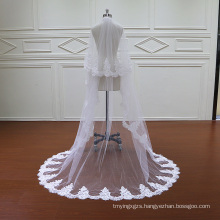 Two Veils Lace Wedding Veil with Comb