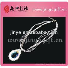 Shangdian à la main blanc perlé bijoux en crochet