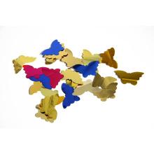 Fabricante al por mayor de Mylar Confeti de la forma de la mariposa del chino para la decoración del partido