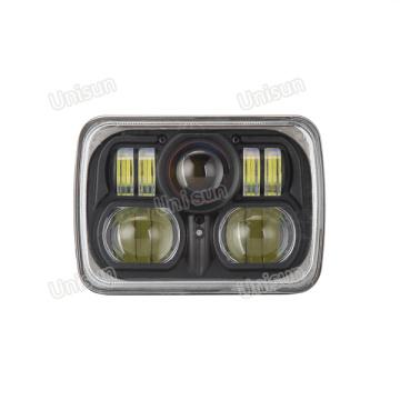 DOT 5X7 H4 12V 24V 85W Faros delanteros LED para camiones
