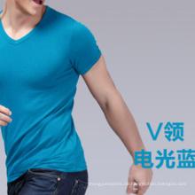 Glattes Modal-Kurzarm-T-Shirt