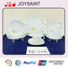 18PCS Abziehbild-Porzellan-quadratische Form-Nahrungsmittelplatte Gebrauch für Haupthotel