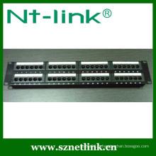 Montage en rack de 19 pouces 2U 48 ports RJ45 UTP Cat6 Krone Patch Panel