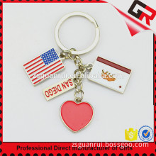 Hotsale Cheap Tourist Souvenir Custom Design Tourist Souvenir Metal Key Chain Ring For Souvenir