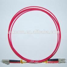 LC / LC Duplex MM Câble de connexion à fibre optique