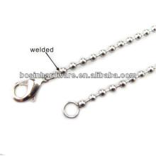 Мода высокого качества Металл Мужская нержавеющая сталь Ball Chain Necklace