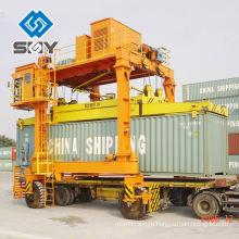Сверхмощный двухбалочный пневмошинного контейнер наезжать перевозчик порт