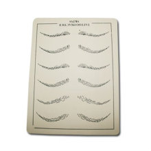 2016 hot sale fashion eyebrow tattoo practice skin