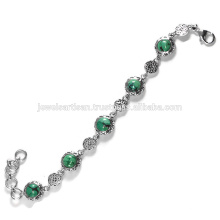 Lovely Tibetan Turquoise Gemstone 925 Sterling Silver Bracelet Jewelry