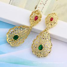 Xuping Собственная Марка 14 k Золота Цвет Моды Стад Серьги (22532)