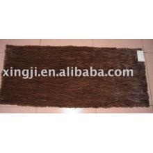 Естественный коричневый цвет норки живота плита