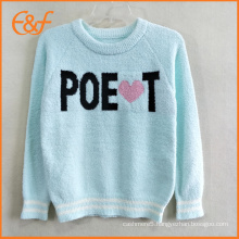 Winter Sweater Designs Fashion Pullover Polyester Sweater For Girls