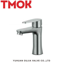 Chrome stainless steel single handle mixer tap bathroom faucet