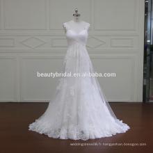 Sirène populaire et robes courtes de mariée en ligne a-ligne