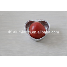 Papel de aluminio en forma de corazón cacerolas