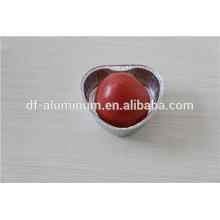 Dernières tasses au four en aluminium AP055 couleur coeur couleur rose