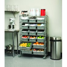 Metal Chrome Restaurant Kitchen Wire Storage Shelving Rack
