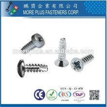 Taiwan Edelstahl 18-8 verchromt Stahl vernickelt Stahl Kupfer Messing SAE J81 Taptite P Tite B Tite Forming Schraube