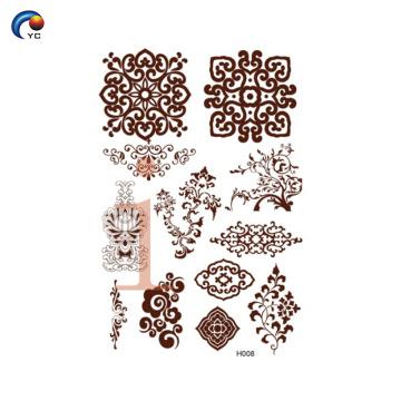 Desenhos de henna mandala simples YinCai