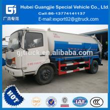 4 * 2 10CBM Dongfeng camión de la cisterna de succión de aguas residuales / camión de succión de vacío de aguas residuales / camión de vacío de alcantarillado