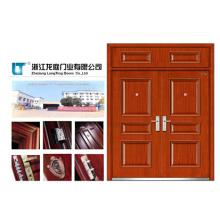 Puerta blindada de madera de acero de calidad de lujo