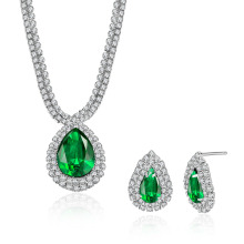 Water Shape Wedding Jewelry Sets Necklace and Earrings