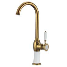 YLK244 Chrome polished deck mounted brass kitchen mixer tap