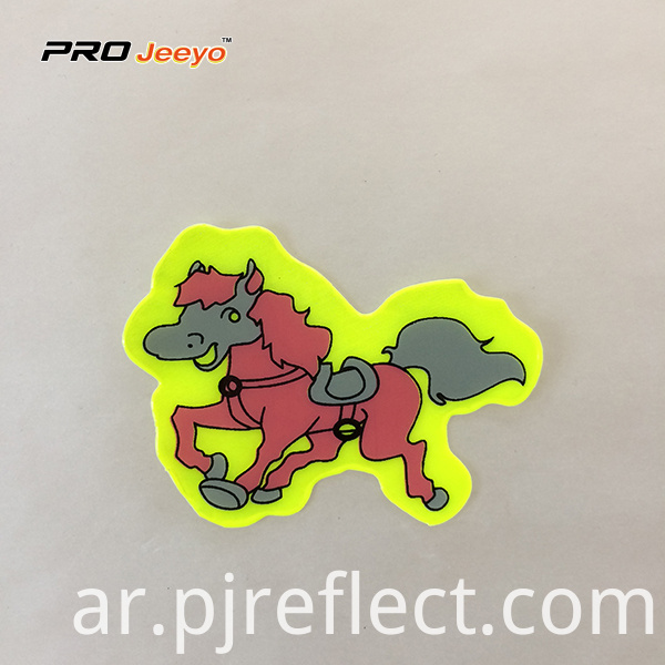 Reflective Adhesive Pvc Horse Shape Stickers For Children Rs Dw009