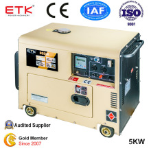 5kw Portable Air-Cooled Soundproof Silent Diesel Generator