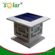 2014 Best seller main gate lights with led solar garden pillar lights
