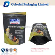 custom resealable dog treats packaging bag/standing ziplock bag/animal feed packaging