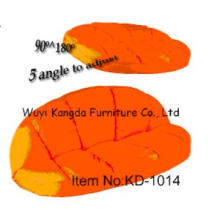 KD-1014 modern style fabric curved sofa