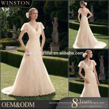 Beliebte Verkauf Hochzeitskleid Spitze Trompete
