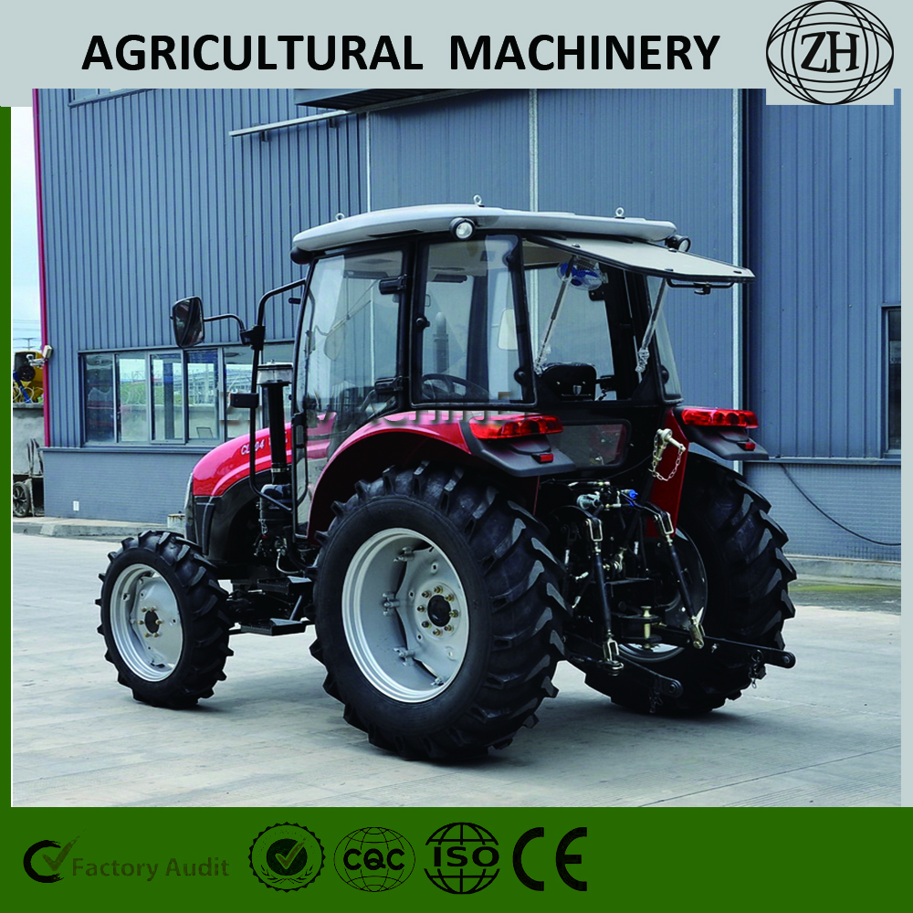 Custom 4x4 4WD 70 HP Wheel Farming Tractors With Cab