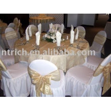 Polyester chair cover,banquet/hotel chair covers,organza sash