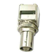Conector jack coaxial de ángulo recto BNC