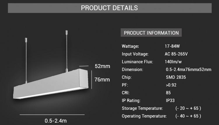 LED Linear Trunking Light