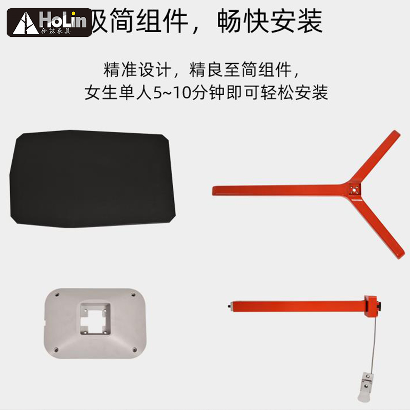 metal contrucation of red .black color of laptop side table
