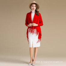 Stilvolle Mädchen Pullover Strickjacke Pashmina Schal Wrap Wolle Cashmere Poncho Sweater