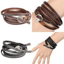 Charms Mode Leder Schmuck Armband für Geschenk (HJ6101)