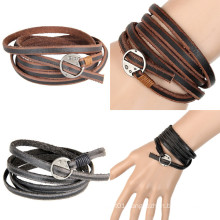 Charms Fashion Leather Jewelry Bracelet for Gift (HJ6101)