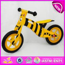 2014 nouveau jouet en bois de bicyclette pour enfants, beau jouet en bois de vélo de conception pour les enfants, vélo en bois bon marché de jouet pour l'usine de bébé W16c075