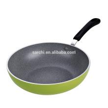 Marble coating aluminum fry pan