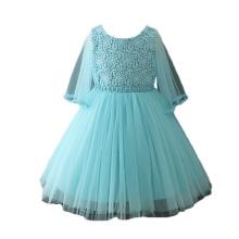 2018 einzigartige Kinder Mädchen Hochzeit Party Kleider mit Schmetterlingsärmel Muster für Europa