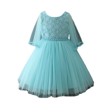 2018 Unique Kids Girls Wedding Party Dresses with Butterfly Sleeves Pattern for Europe