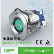 CMP 25mm Diameter Industrial Mechanical metal waterproof led Signal lamp,Green led
