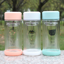 Double Wall Fashion Drinking Glass Water Bottle