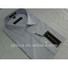 Nueva llegada de la moda no Iron Cotton Men Dress negocios camisas de manga corta FYST07-L