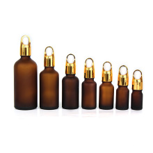 5ml 10ml 15ml 20ml 30ml 50ml Glass Dropper Frosted Amber Essential Oil Bottle with dropper